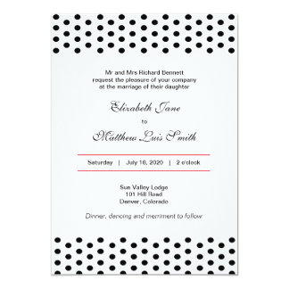 Bilingual Bold Polka Dot Wedding Invitation