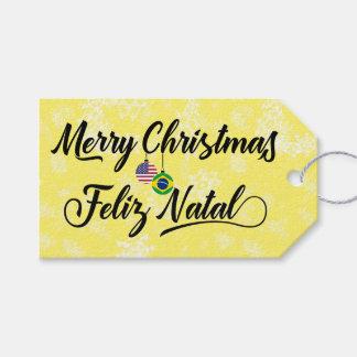 Bilingual Brazilian American Holiday Gift Tags