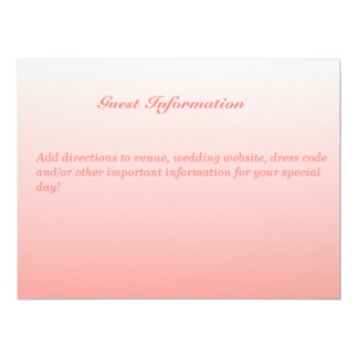 "Bilingual Coral Wedding Guest Invitation Card 6.5"" X 8.75"" Invitation Card"