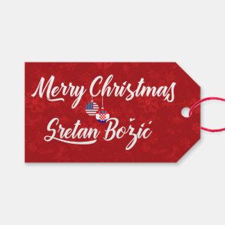 Bilingual Croatian American Holiday Gift Tags