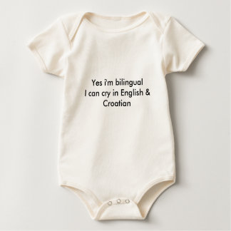 Bilingual Croatian Flag Baby Baby Bodysuit