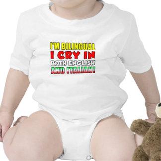 Bilingual Cry In Italian Baby Bodysuits