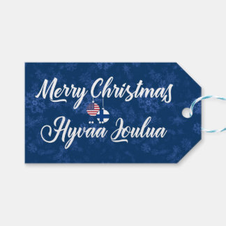 Bilingual Finnish American Holiday Gift Tags