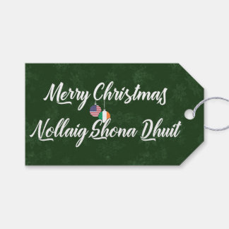 Bilingual Irish American Holiday Gift Tags