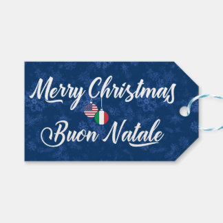 Bilingual Italian American Holiday Gift Tags