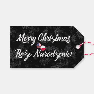 Bilingual Polish American Holiday Gift Tags