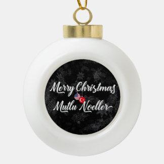 Bilingual Turkish American Holiday Ornament