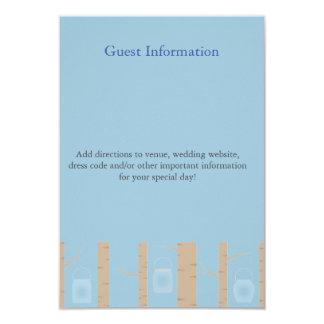 """Bilingual Woodland Wedding Invitation Guest Card 3.5"""" X 5"""" Invitation Card"""