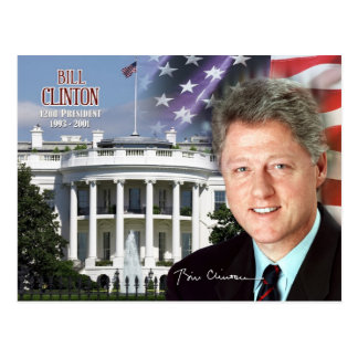 Bill Clinton -  42nd President of the U.S. Postcard