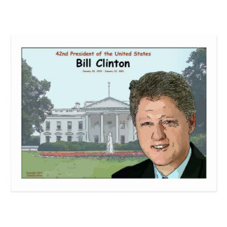Bill Clinton Cartoon Postcard