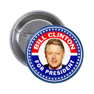 Bill Clinton For President 6 Cm Round Badge