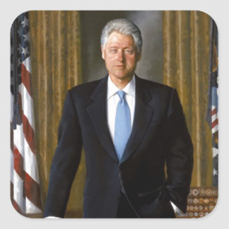 Bill Clinton Official White House Portrait Square Sticker