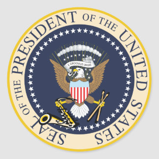 Bill Clinton : President Seal Sticker