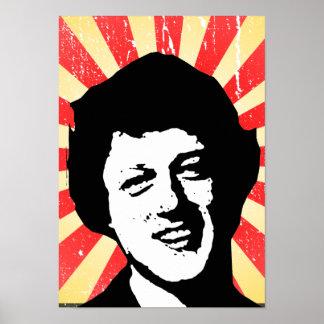 Bill Clinton retro Poster