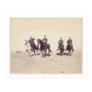 Bill Cody and Riders Postcard