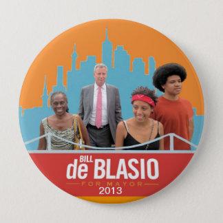 Bill de Blasio & Family NYC Mayor 2013 10 Cm Round Badge