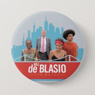 Bill de Blasio for NYC Mayor in 2013 7.5 Cm Round Badge