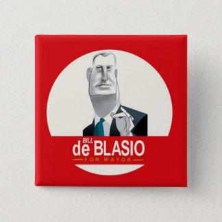 Bill de Blasio NYC Mayor 2013 15 Cm Square Badge