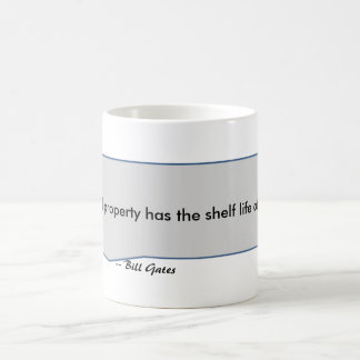 Bill Gates Quote Intellectual Property Banana Coffee Mug