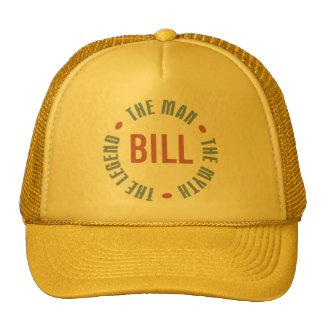 Bill Man Myth Legend Customizable Cap