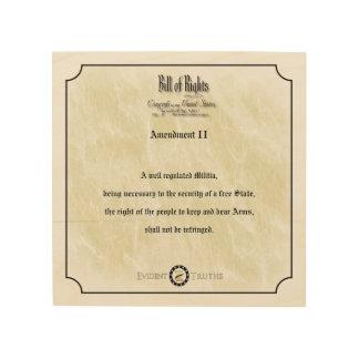 Bill of Rights - 2nd Amendment rustic wall plaque Wood Canvas