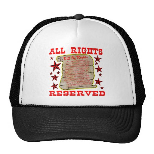 Bill Of Rights ALL Rights Reserved Mesh Hat