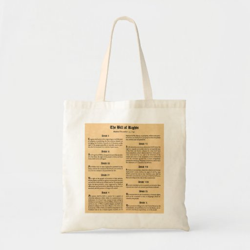 Bill of Rights Canvas Bags