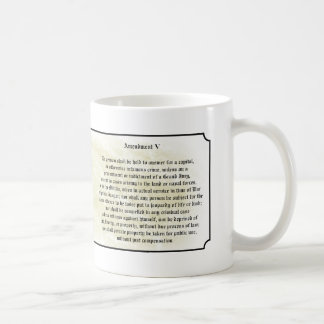Bill of Rights - Fifth Amendement Basic White Mug