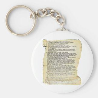 bill of rights basic round button key ring