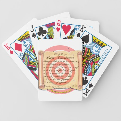 Bill of Rights Deck Of Cards