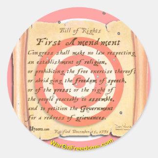 Bill of Rights Round Sticker