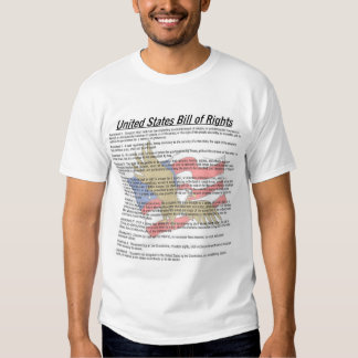 Bill of Rights with Flag and Eagle T-shirts