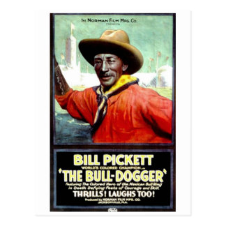 "Bill Pickett in ""The Bull-Dogger"" Postcard"