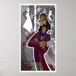"Bill ""The Butcher"" Cutting Poster"