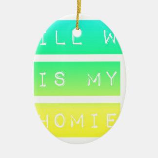 Bill W Homeboy Fellowship AA Meetings Ceramic Ornament