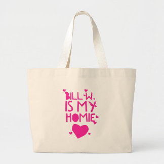 Bill W Homeboy Fellowship AA Meetings Large Tote Bag