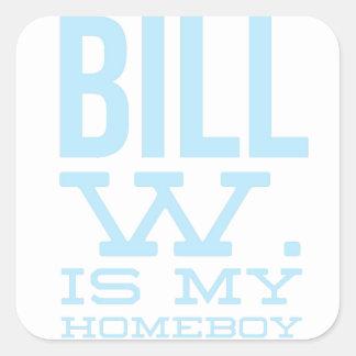 Bill W Homeboy Fellowship AA Meetings Square Sticker