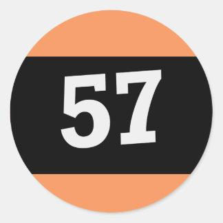 Billard ball with the 57 classic round sticker