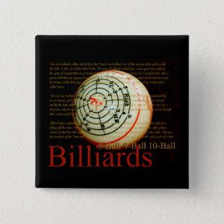 Billards 15 Cm Square Badge