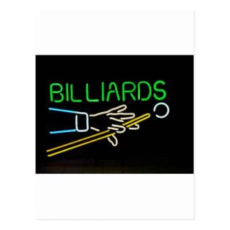 billards postcard