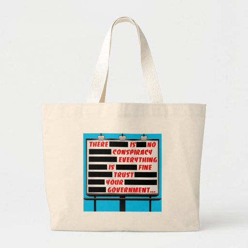 Billboard Trust Your Government Canvas Bags