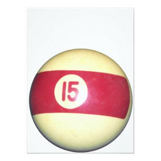 Billiard Ball #15 Invite
