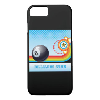 Billiard Ball and Rainbow Stripe BILLIARDS Star iPhone 7 Case