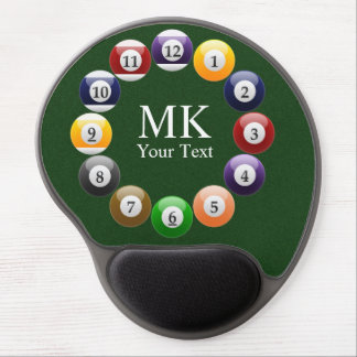 Billiard Balls Shiny Colorful Pool Snooker Sports Gel Mousepad