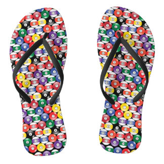 Billiard Pool Ball Pattern Thongs
