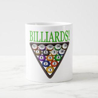 Billiards 2 20 oz large ceramic coffee mug