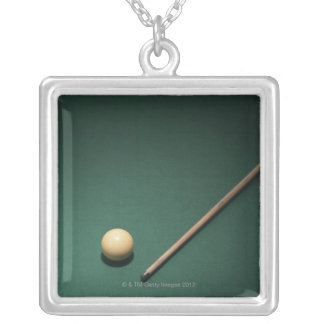 Billiards 2 silver plated necklace