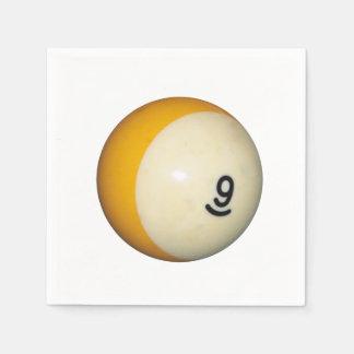 Billiards 9 Ball Paper Napkin