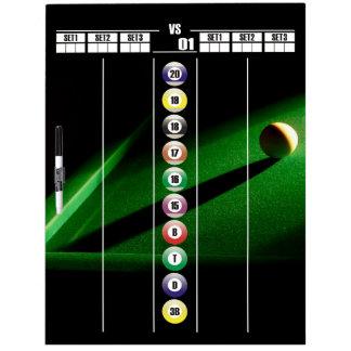 Billiards and Gameroom Darts Scoreboard Dry Erase Boards