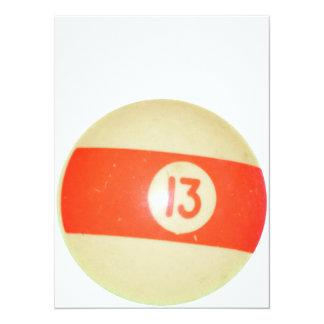 Billiards Ball #13 Card